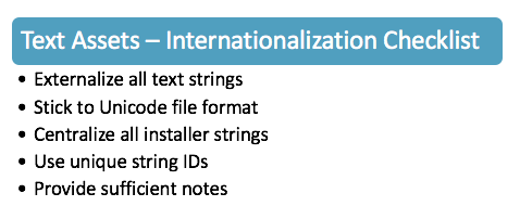 Video Game Internationalization - Text Assets Checklist